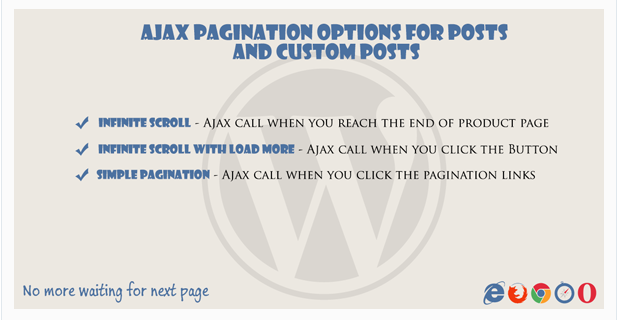 Ajax pagination Infinite Scroll