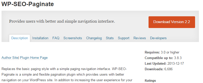 WP SEO Paginate