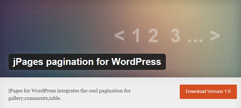 jPages pagination for WordPress