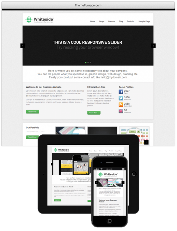 whiteside responsive theme
